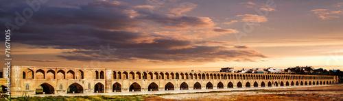 Poster Midden Oosten Sio Se Pol bridge on Zayande River in Isfahan, Iran