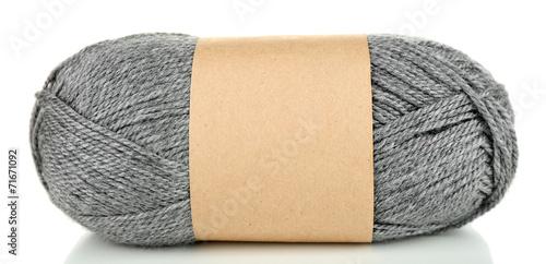 Obraz na plátne Knitting yarn isolated on white