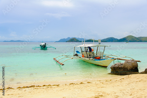 scene of beach in coron, philippines