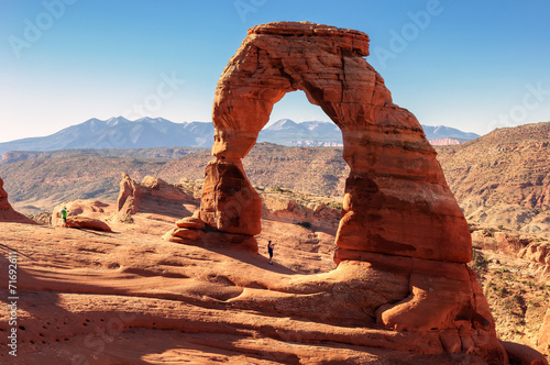 Fotobehang Natuur Park Freestanding natural arch located in Arches National Park