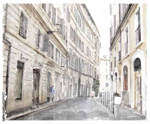 akwarela-ilustracja-miasta-scape