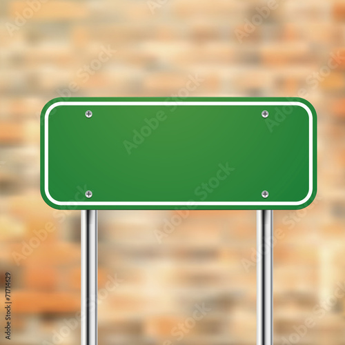 Blank Road Sign Template Buy This Stock Vector And Explore Similar