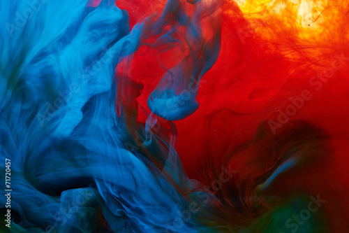 Cadres-photo bureau Forme Abstract paint splash