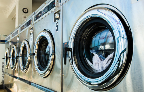 Fotografie, Obraz  laundry machines