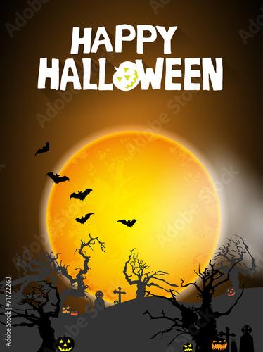 Keuken foto achterwand Diepbruine Halloween background
