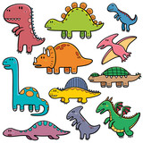 Fototapeta Dinusie - Vector illustration of Dinosaurs cartoon characters