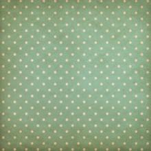 Retro Polka Dot Blue Or Cyan Pattern On Old Wallpaper