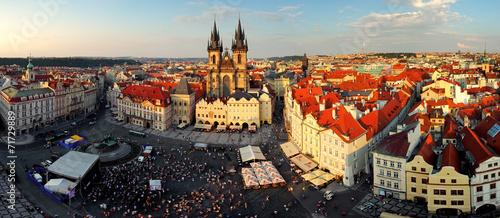 Poster Prague Prague square - Panorama of Old Town