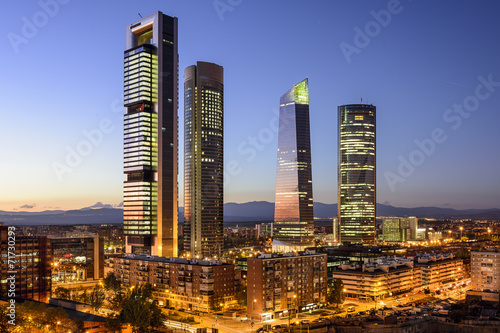 In de dag Madrid Madrid, Spain Financial District