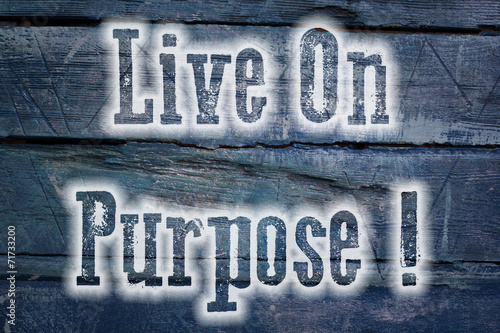 Poster  Live On Purpose Concept