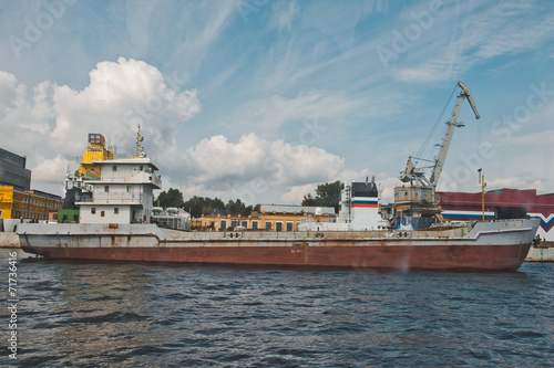 Photo  City of St. Petersburg, view from the motor ship 1132.