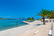 embankment Mediterranean resort town on a sunny afternoon