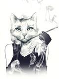 fashion animal .watercolor illustration - 71739052