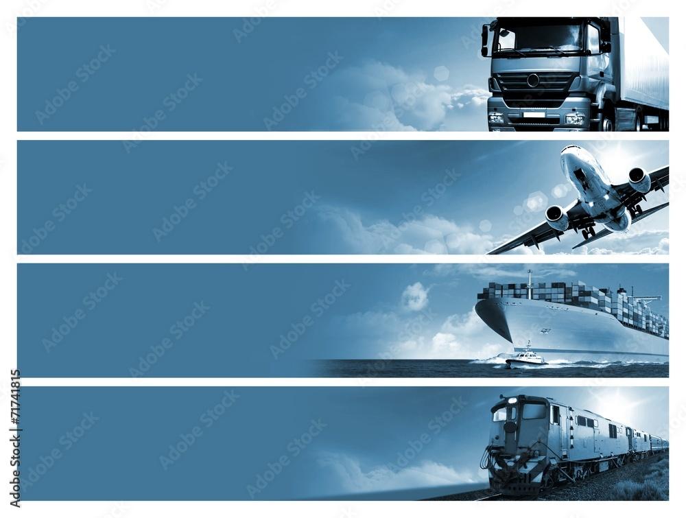 Fototapeta Logistics background