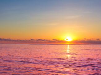 Panel Szklany Podświetlane Do dentysty Evening Seascape Skyline