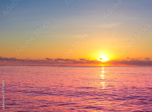 Evening Seascape Skyline - 71741856