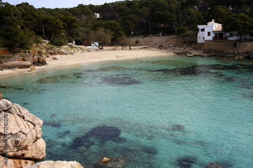 Aluminium Prints Beach Bucht auf Mallorca