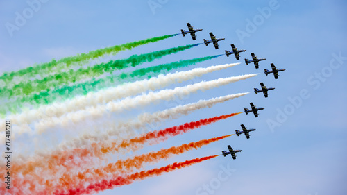 Fotografie, Obraz  UDINE, ITALY - 01 MAY 2009: The Italian demonstration team Frecc