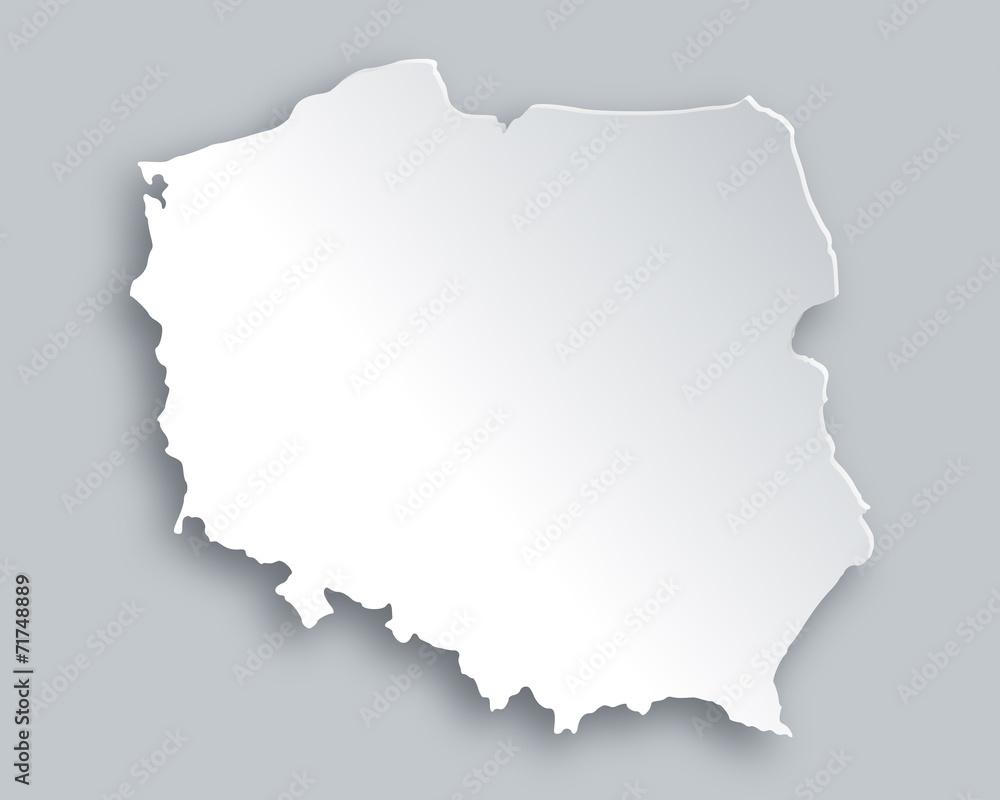 Mapa polski <span>plik: #71748889 | autor: Robert Biedermann</span>