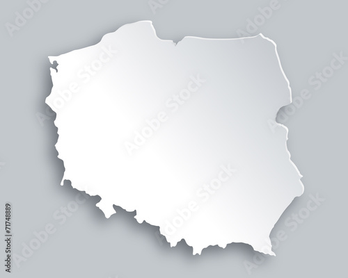 Karte von Polen Wall mural
