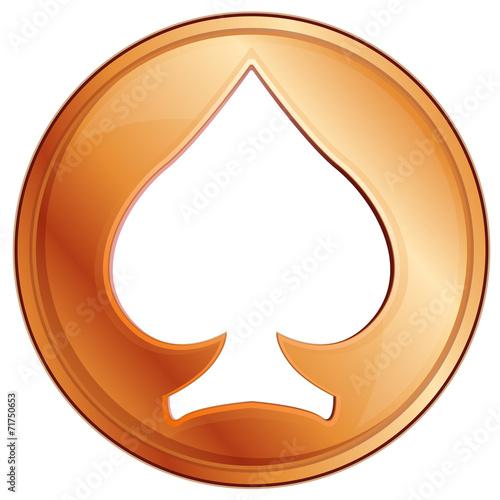 poker chip, vector illustration плакат