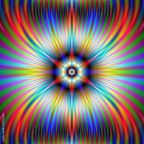 Poster Psychedelic Moose Star