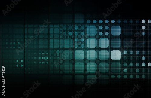 Fotografie, Obraz  Abstract Tech Background