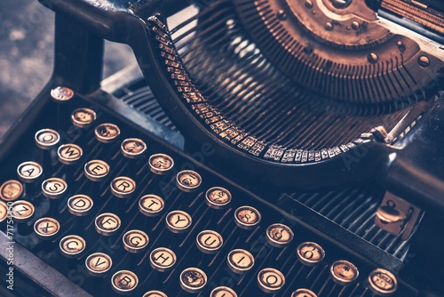 Deurstickers Retro Antique Typewriter