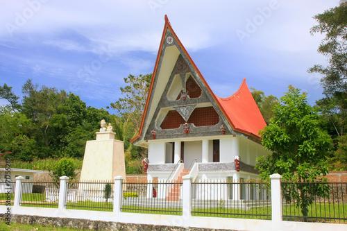 Foto op Plexiglas Indonesië Traditional Batak house on Samosir island, Sumatra, Indonesia