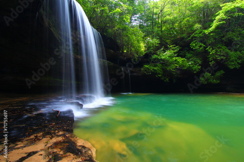 Tuinposter Watervallen Alabama Waterfall Landscape