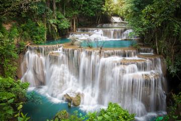 Fototapeta Wodospad Thailand waterfall in Kanchanaburi (Huay Mae Kamin)