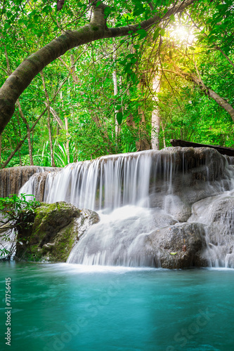Beautiful waterfall in the forest - 71756415