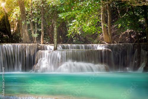 Fototapety, obrazy: Thailand waterfall in Kanchanaburi (Huay Mae Kamin)