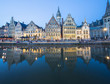 canvas print picture - Travel Belgium Ghent Medieval Town