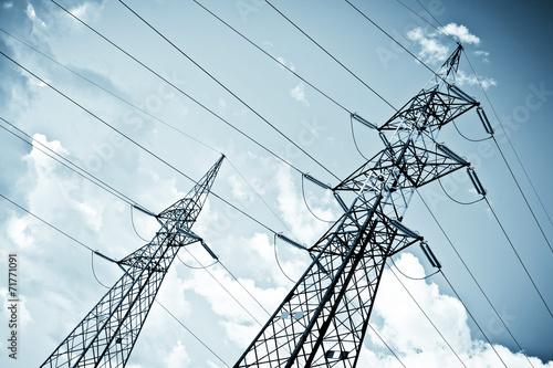 High voltage power pylon
