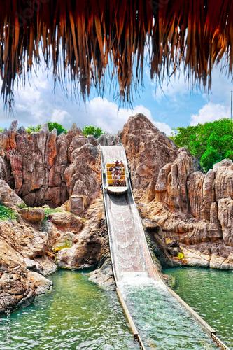 Poster Attraction parc Amusement park in Spain
