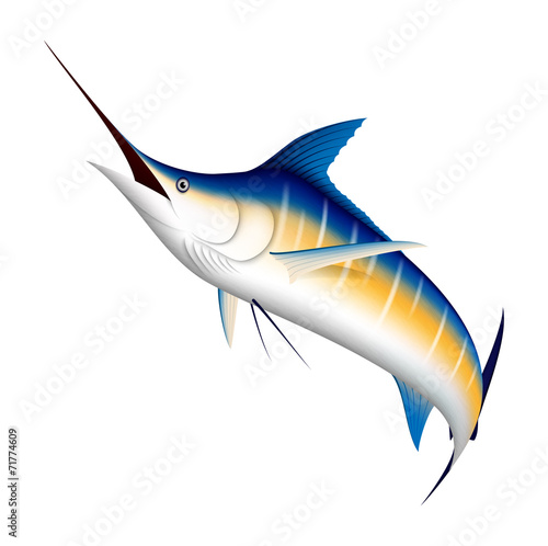 Photo  Realistic blue Marlin fish