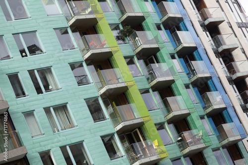 Photo  Fassade eines modernen Wohngebäudes in Oslo, Norwegen
