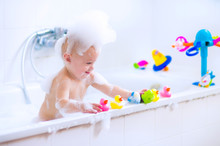 Funny Baby In Bath