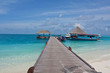 maldives, sea, dock and sky