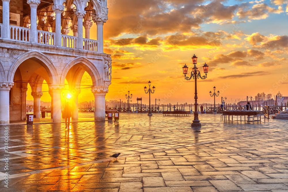 Fototapety, obrazy: Wschód słońca w Wenecji