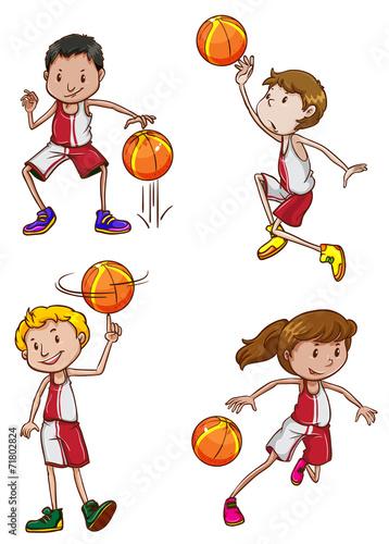 Papiers peints Chambre bébé Basketball players