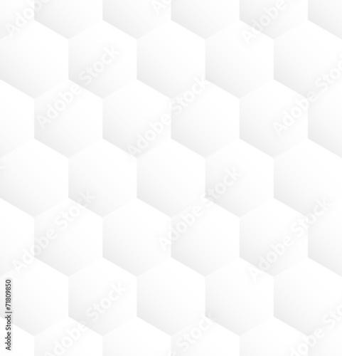 Fototapety, obrazy: White hexagon abstract seamless pattern background