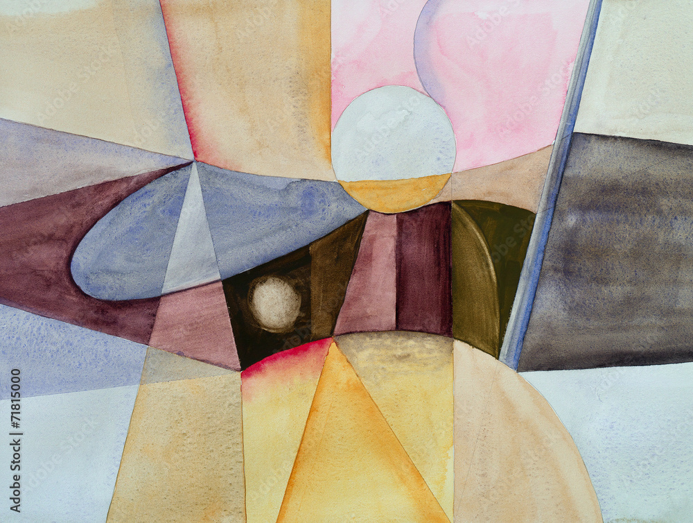 Obraz a modernist abstract watercolor fototapeta, plakat
