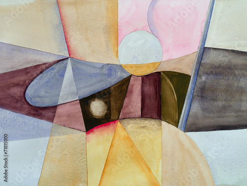 Fototapeta a modernist abstract watercolor obraz