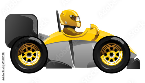 Staande foto Cartoon cars sport car