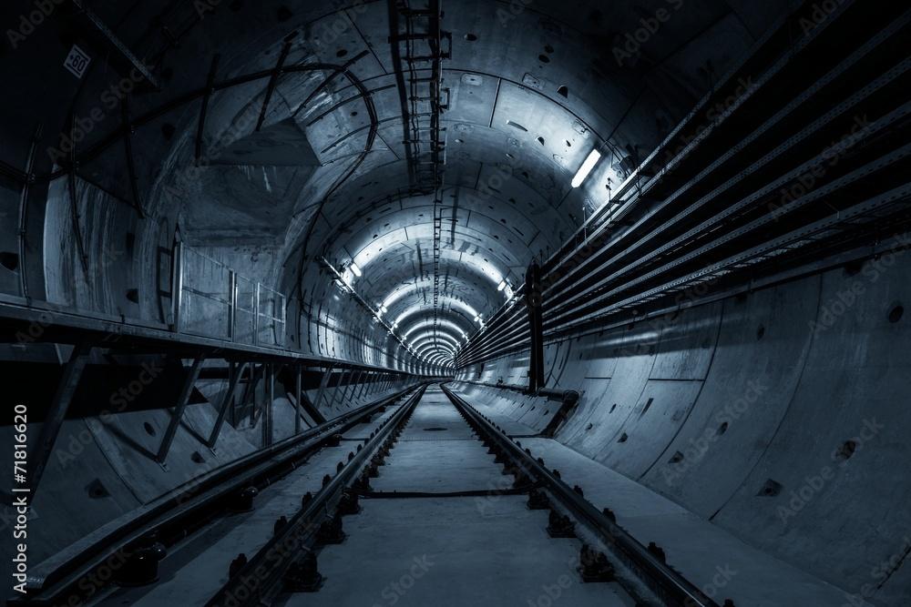 Fototapeta Underground tunnel for the subway