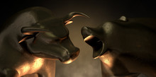 Bull And Bear Market Statues