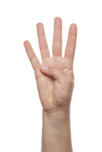 Counting Hand Isolated Over White Background