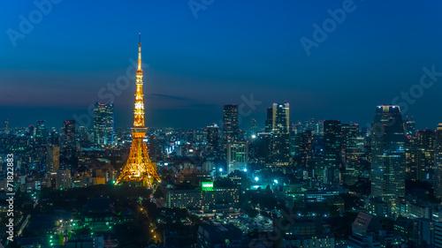 Spoed Foto op Canvas Tokio 東京タワー